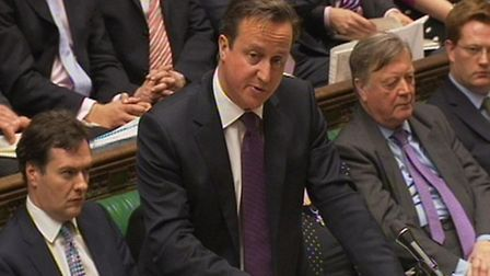 Prime Minister David Cameron speaks during Prime Minister's Questions in the House of Commons, Londo