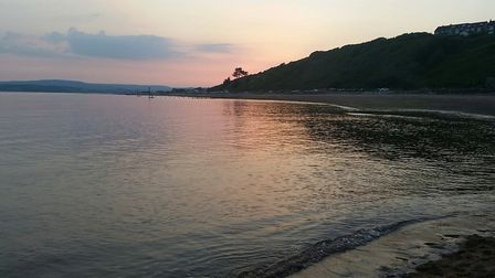 Red sky over Exmouth water. Picture: Ingrid Cawse