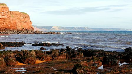 Wonderful view looking east towards Sidmouth taken from the rocks at Otter Head. Picture: Barbara Me