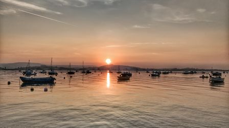 Was a beautiful evening on the mouth of the Exe ,calm sea and tranquil. Picture: Nathan Richmond