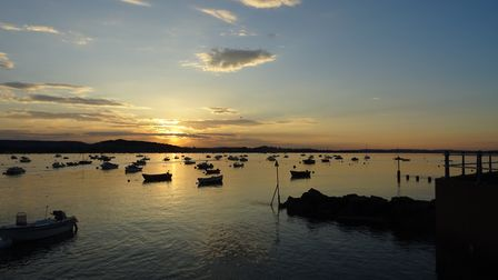I was along the Clipper Wharf area by Exe Estuary and sunset over the opposite side of the river, on