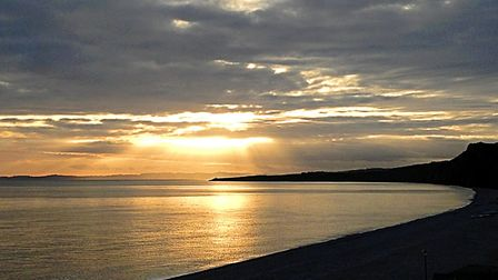 Winter sunset over Budleigh beach. Picture: Barbara Mellor