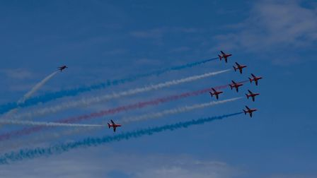 Red Arrows Tornado at Torbay air show. Picture: Jason Sedgemore