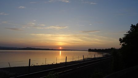 I was walking along the Exe Estuary, towards Lympstone on Wednesday 6th June 2018, whilst the sun wa