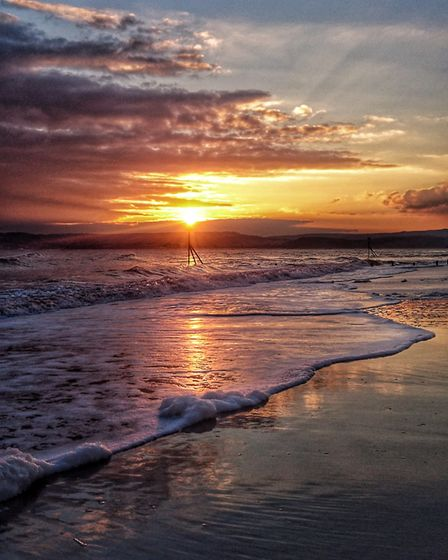Stunning sunset after a stunning day at Exmouth. Picture: Anna Childs
