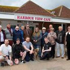 Harbour View Cafe supporters. Ref exe 18 18TI 2163. Picture: Terry Ife