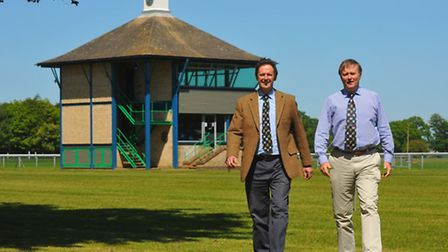 Royal Norfolk Agricultural Association chief executive Greg Smith, right and show director Julian Ta
