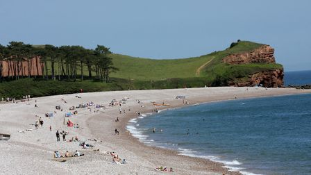 A view of the beach at Budleigh Salterton. Photo by Simon Horn. Ref exb 6532-23-09SH