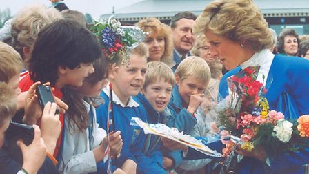 The Princess of Wales opening Sheringham Splash in May 1988. Picture: ARCHANT LIBRARY