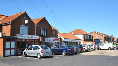 The parade of shops on Wroxham road, Sprowston.PHOTO BY SIMON FINLAY