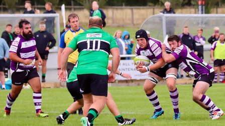 Action from the Exmouth defeat at Drybrook. Picture CONTRIBUTED