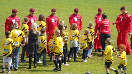 The children get to meet the Red Devils