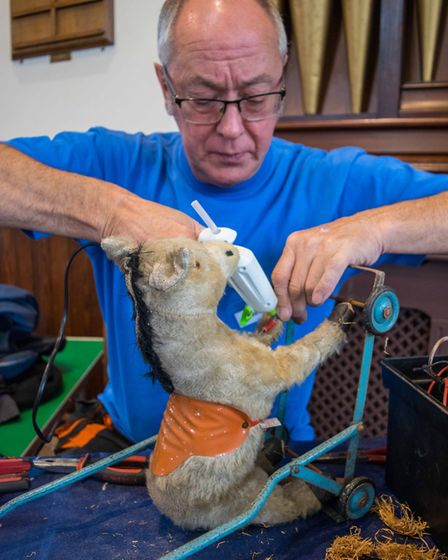 Repairs being made at Exmouth Repair Cafe. Picture: Jean Holden