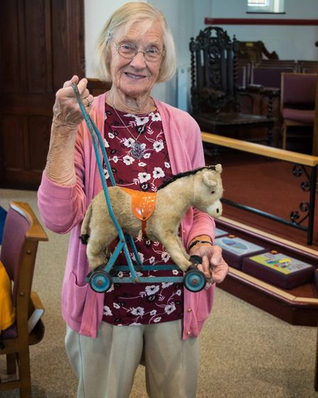 A donkey repaired at Exmouth Repair Cafe. Picture: Jean Holden