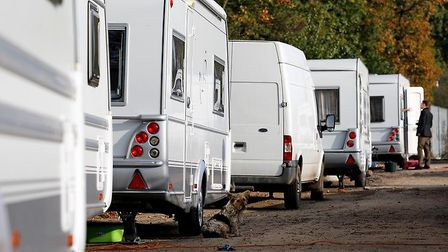 New government figures show there are less traveller caravans in East Devon this year than there wer