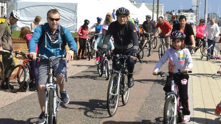 The inaugural Lowestoft Cycling Festival was hailed a success by organisers. Picture: MICK HOWES.