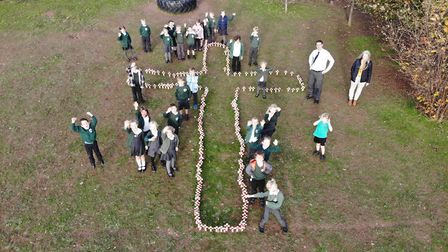 Pupils from St Peter's Primary School, Budleigh Salterton, marked Armistice Day with their own 'movi
