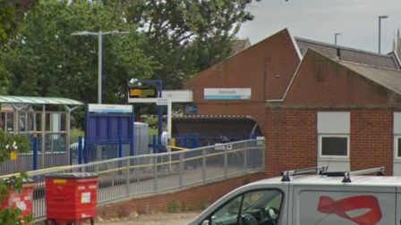 The shrubs were yanked out from planters near a ramp at Exmouth train station