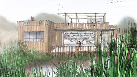 New Pinebanks plans are submitted, Thorpe St Andrew, May 2013 - pictured is the proposed cafe and in