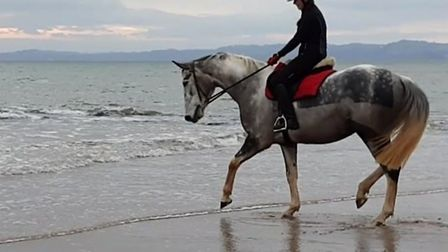 Milly riding Spring moments before the incident took place. Picture: Tracey Berryman.