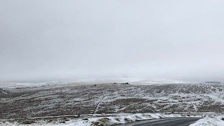 The view today (January 22) from Sharpitor, Dartmoor. Picture: Paul McDonnell.