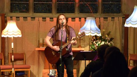 Matthew North plays acoustic rock with folk overtones. Picture: Martin Johnson