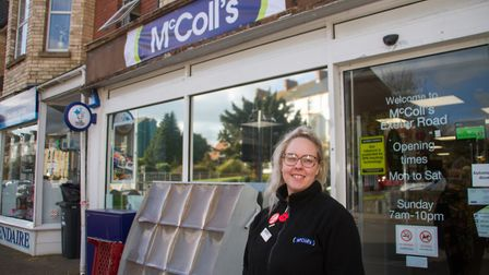 Daisy Mitchell outside McColl's on Exeter Road Exmouth. Ref exe 07 19TI 9990. Picture: Terry Ife