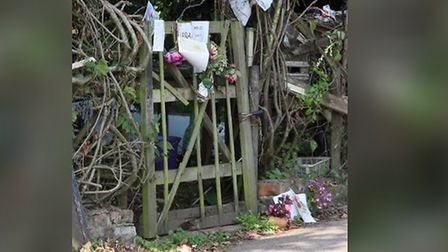 A memorial for Frank Farr at Frank's Patch after he died in August 2011. Picture: Terry Ife