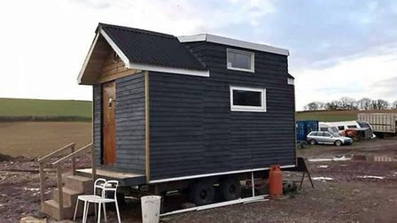 The exterior of Paul Keating's tiny home. Picture: Paul Keating