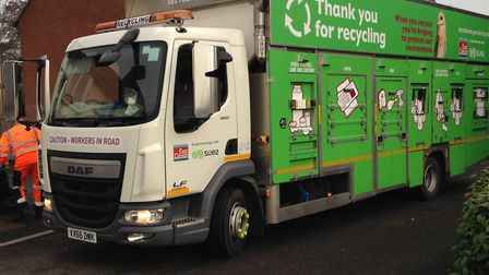 One of East Devon's recycling lorries. Picture: East Devon District Council