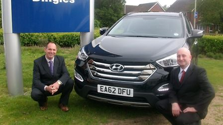 John Dingle, left, managing director of Dingles, and aftersales director Nigel Cooper, who will be f