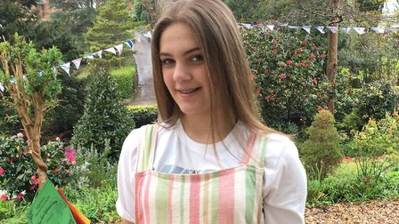 Sophia Rehbock, 14, who won the store cupboard category at the Budleigh Salterton Spring Flower and