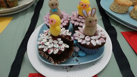Easter cup cakes by Theo Hooper (aged nine). Picture: Judith Stewart-Young