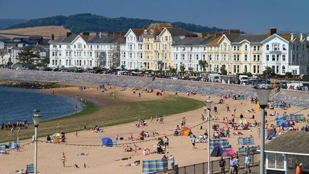 A summer view of Exmouth seafront from Ocean terrace. Ref exe 33-16AW 3814. Picture: Alex Walton.