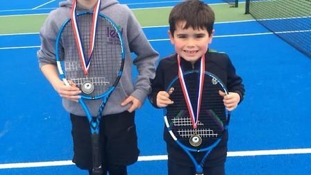 East Devon Tennis Academy players, brothers Tom and Harry Rintoul. Picture EDTA