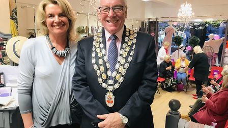 Snob's owner Emma Ranson Bellamy with Budleigh mayor Tom Wright. Picture: Katie Silverthorne