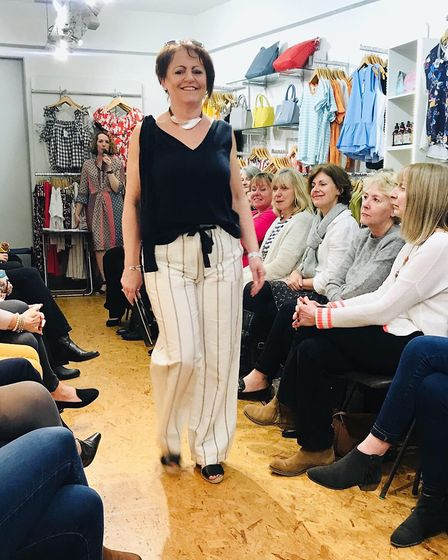 Showing off a stylish look at the Caramel fashion show. Picture: Katie Silverthorne