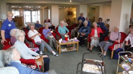 Exmouth in Bloom held a coffee morning at Roswell Court to mark the launch of their 2019 friends' ca