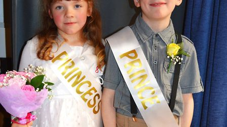 Cromer carnival princess Daisy Reynolds and prince Oliver Fraser. Picture: DAVE ROBERTS