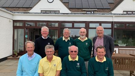The East Devon seniors who won the Jurrasic Challenge competition played at Lyme Regis Golf Club: (