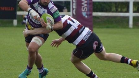 James Harris in action for the Cockles in the win at Cleve. Picture TIM RIDGEWAY