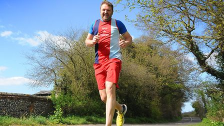 Alan Lamb, from Cromer, who ran the London to Brighton Challenge for Help for Heroes.PHOTO: ANTONY K