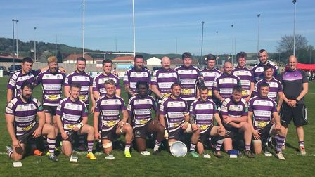 The Exmouth RFC squad that took part in the 2019 Devon Cup final against Barnstaple. Picture TIM RID