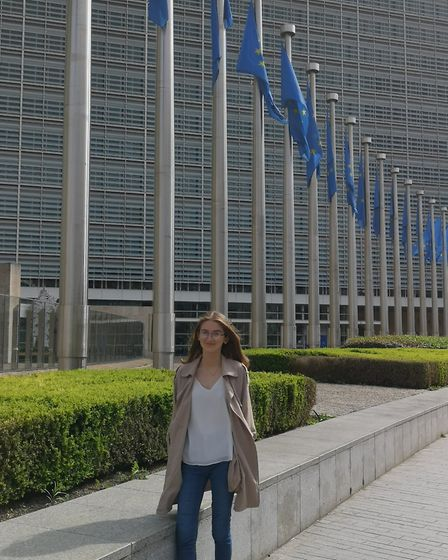 Jess Nicholls at the European Commission in Brussels. Picture: Nicky Turnbull