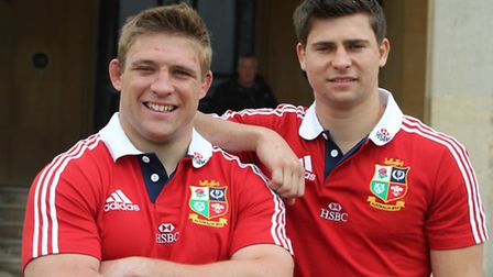 Tom and Ben Youngs will fly out with the British Lions squad to Hong Kong on Monday evening.
