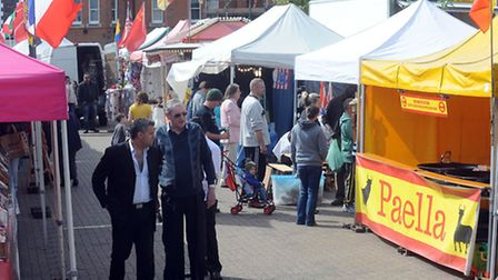The Brandon Continental Market in full flow.