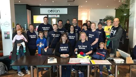 Staff from Rolle and Claremont Medical centres took part in Exmouth Park Run. Picture: Lucy Craven