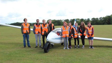 Mmebers from the Hive, Exmouth and Tiverton Youth Centre on their visit to the Devon and Somerset Gl