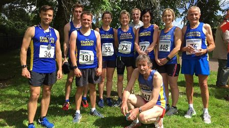 Exmouth Harriers at the bampton to Tiverton Road Run. Picture EXMOUTH HARRIERS