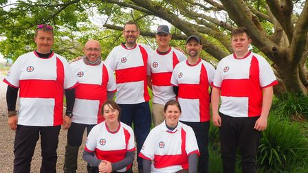 The England archery team at the British Open meeting. Picture EXMOUTH ARCHERS